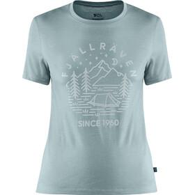 Fjällräven Abisko Tältplats T-shirt Laine Femme, mineral blue